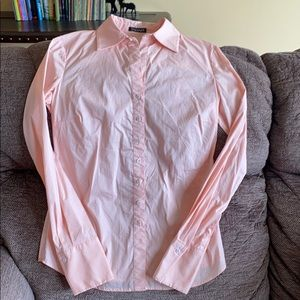 Peach button down shirt